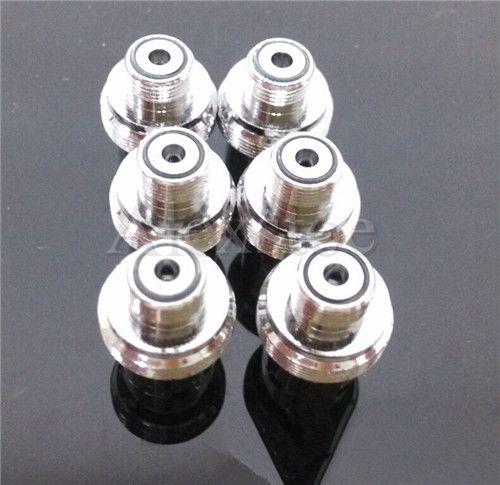 Ego adapter connector 510-eGo 510-510 Convertor Metal ring Adaptor silver connection for 510 Thread Battery Vivi nova E-cigarette ecig e-cig