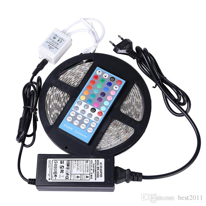 Blister Paketi 5 M 300led RGBW led şerit su geçirmez IP65 DC12V esnek şerit ışık RGB beyaz renk İnanılmaz led sting işık