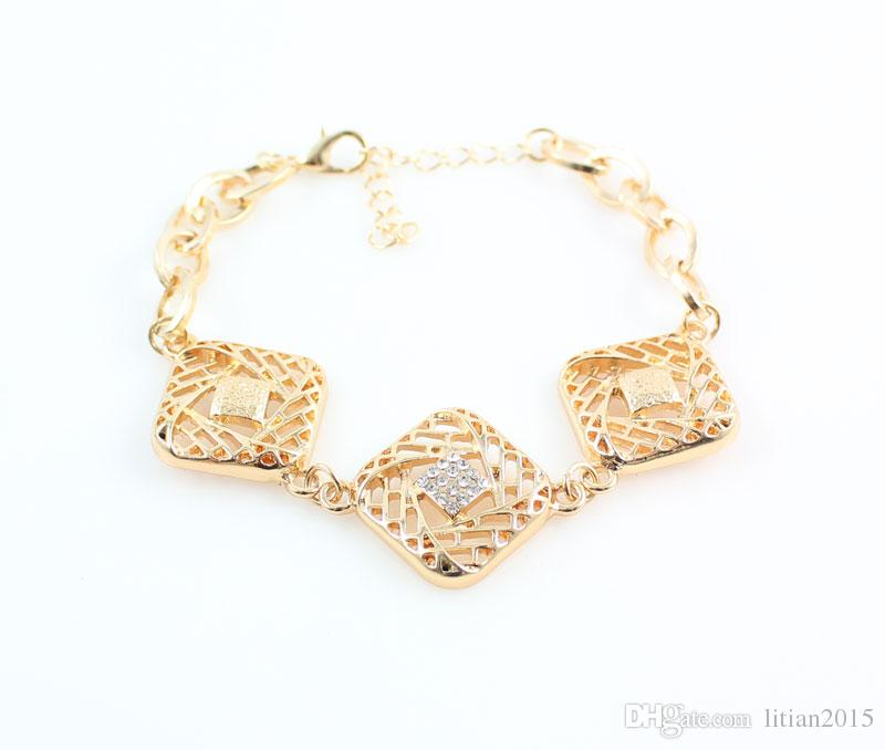 New Arrival 18K Gold Plated Fashion African Costume Party Wedding Accessories Choker Jewelry Sets For Women
