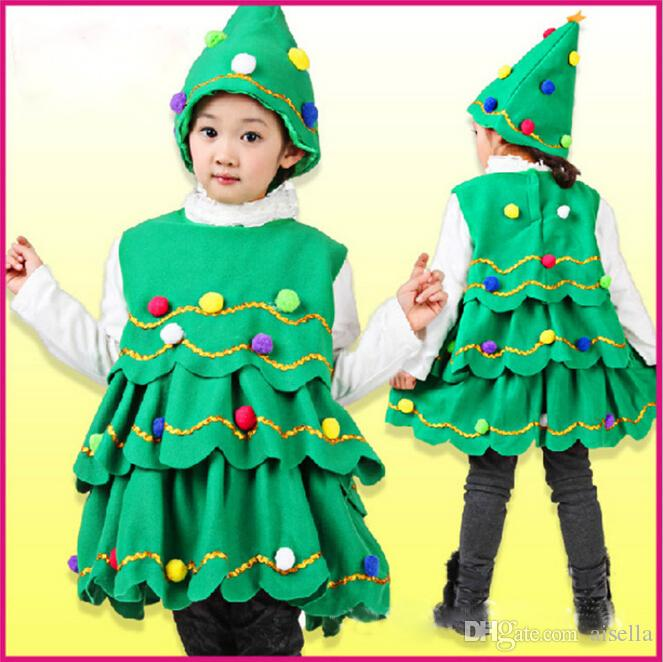 2018 Christmas Tree Costume Outfits Baby Girls Xmas Clothing