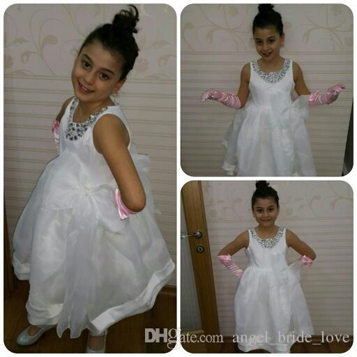 Top Quality New Flower Girl Dresses For Baby Children Princess Girls Pageant Dresses Kids Formal Wedding Party Gown