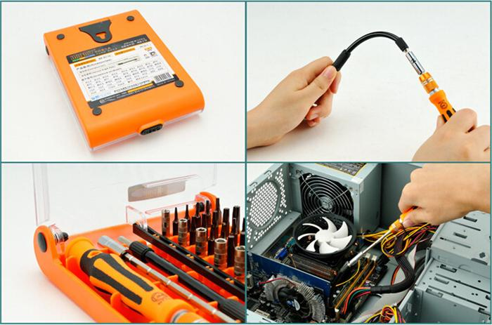 45-in-1 interchangeable precise manual tool set Professional Hardware Screw Driver Multi function for Home Repair Automotive Tool Kit
