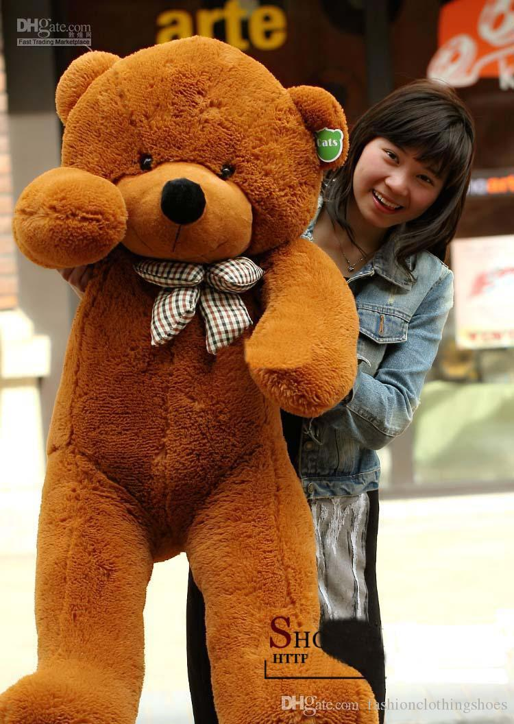 """New arrival giants """"right Angle size 200 cm / 78 inches teddy bear plush huge plush toys plush toys brown valentine's day gift"""
