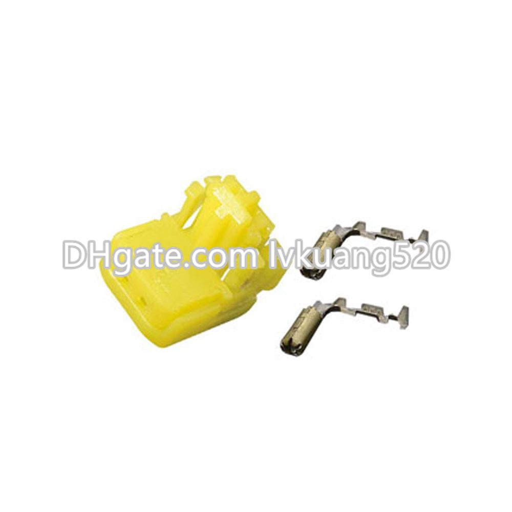 2 Pin 0.6mm yellow plug hole airbag airbag two mating connector terminals DJ7027Y-0.6-21