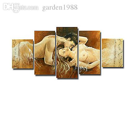2018 Hand Painted People Oil Painting Sensual Abstract Bedroom Wall Art  Paintings For Living Room Wall From Garden1988, $76.7 | Dhgate.Com
