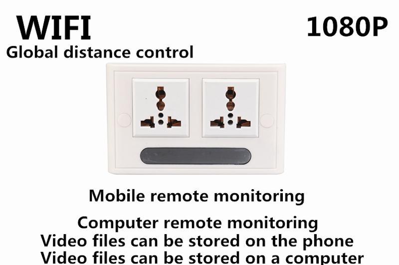 newest spy socket camera 110 240v wall dvr 1080p p2p ip