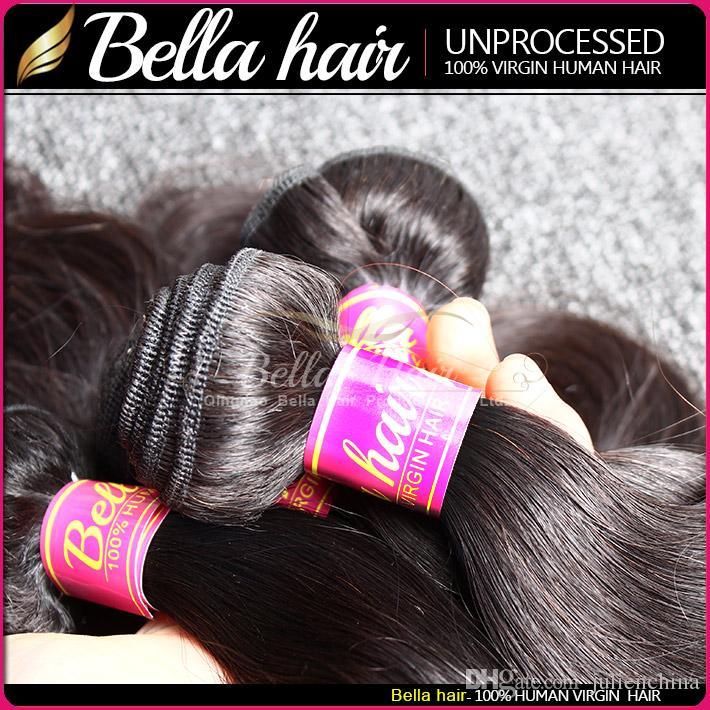 Mélange de trame double longueur de malaxage malaisien 10-24 pouces / pleine longueur de couleur naturelle 9A extensions de cheveux