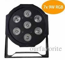 Hot 7x 9W RGB DMX Stage Lights Business Lights Led Flat Par High Power Light with Professional for Party Disco DJ EU US