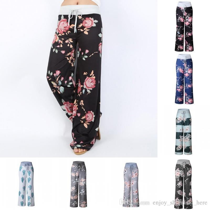1ed7b3c5a8 2019 Yoga Pants Wide Leg Women Casual Loose Floral Striped Camouflage Trousers  Ladies Summer Long Pants Plus Size S 3XL From Enjoy_shopping_here, ...