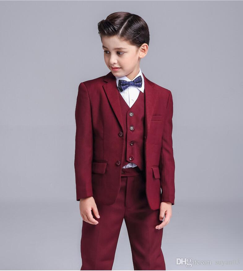 956ab28955b Baby Boys Kids Blazers Boy Suit for Weddings Prom Formal Wine Red Dress  Wedding Boy Suits Boy s Formal Wear Kids Gentleman Clothing Formal Suits  Online with ...