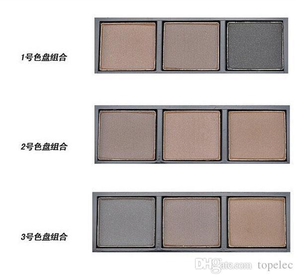 새로운 패션 프로페셔널 아이 브로우 키트 3 색 EYEBROW 파우더 / 쉐도우 팔레트 아이 브로우 인핸서, DHL 6969로 마감 브러시 사용 가능