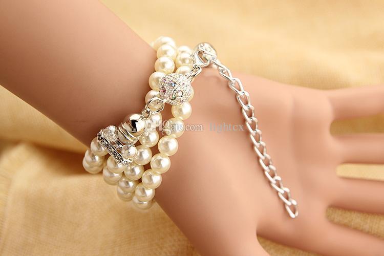 Luxury women watches with resin white pearl bracelet flower pendant quartz watch women dress watch montre female feminine clock