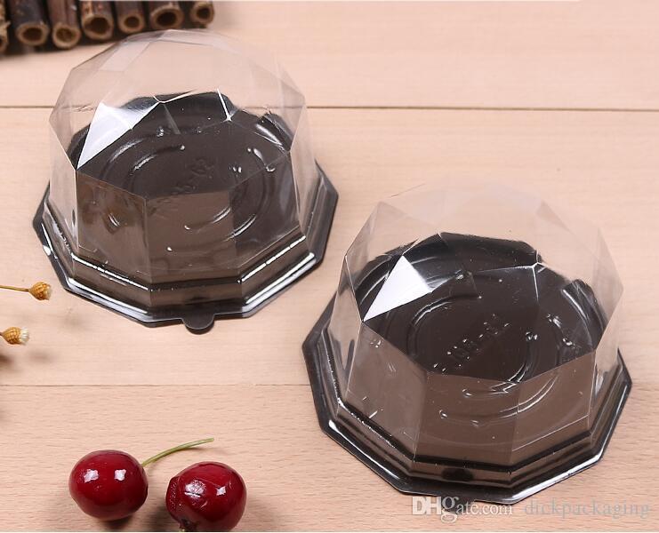 Spedizione gratuita blister torta scatola di imballaggio trasparente rettangolare torta scatola di plastica scatole cupcake packagingfor pasticceria