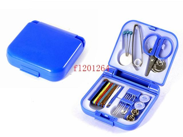 Portable Mini Travel PP Sewing Box With Color Needle Threads Sewing Kits Sewing Set DIY Home Tools