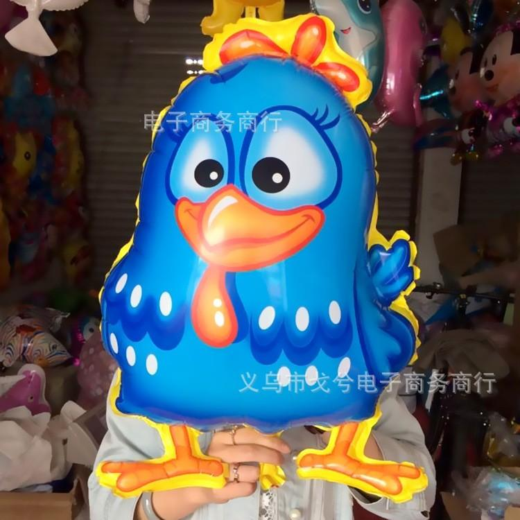 2014 New walking pet foil helium balloons chicken blue cartoon balloon galinha pintadinha ballon kids toys party supply