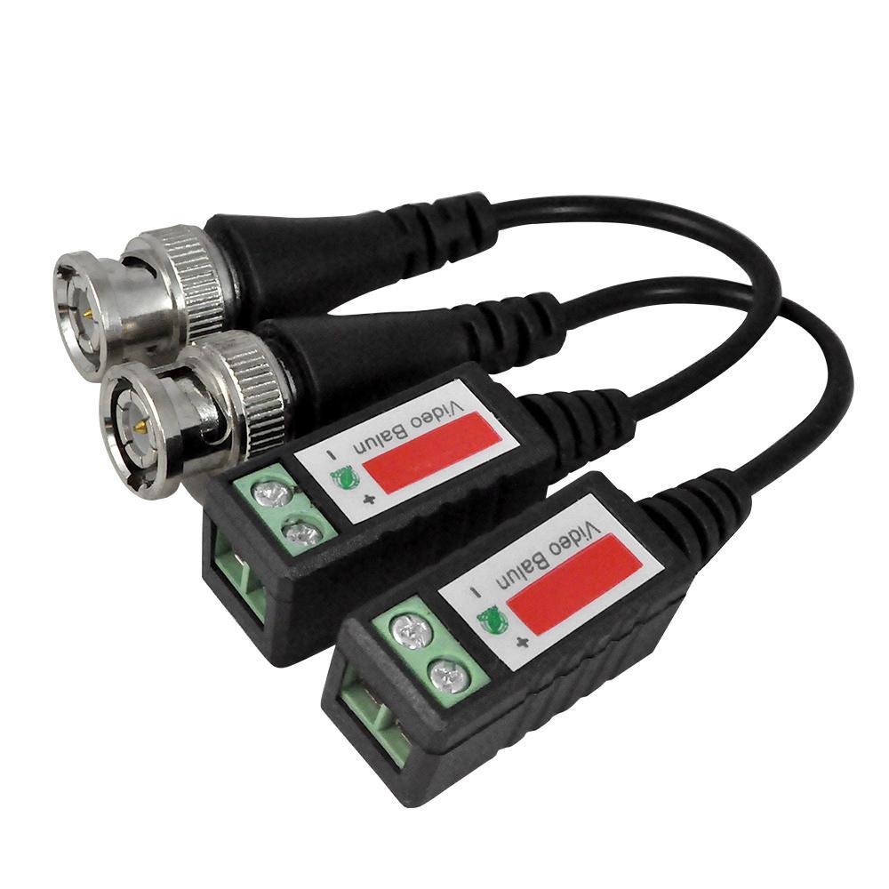 BNC CAT5 Video Balun Transceptor Cable para cámara CCTV Pasivo par trenzado transmisión cámara de vigilancia accesorios equp con paquete