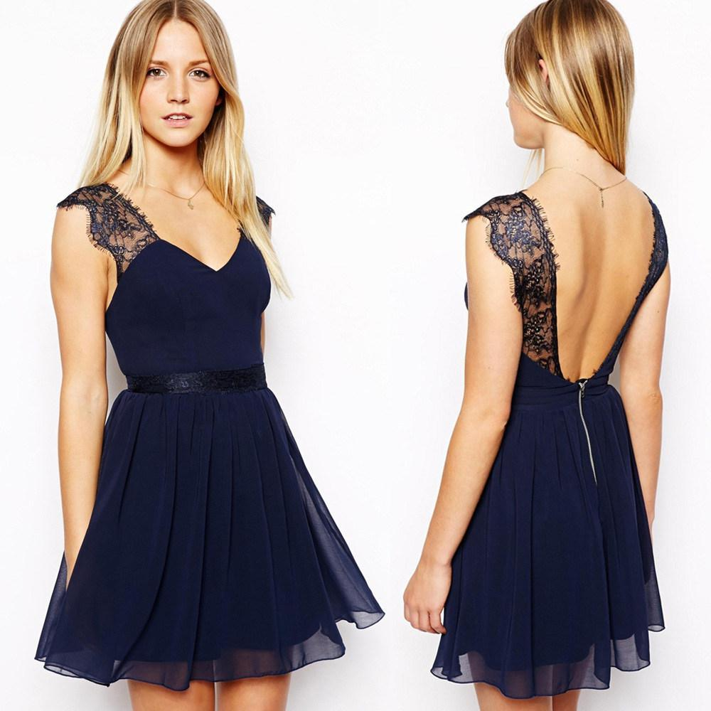 new women casual dress european exclusive sexy lace halter chiffon dress channel sleeveless vest summer dresses girl vestido