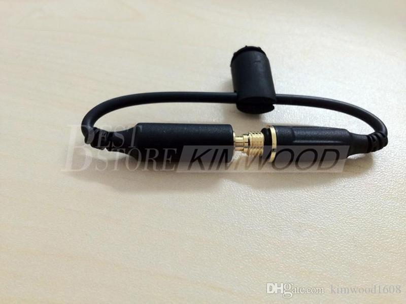 cavo della sostituzione della spina dell'adattatore della cuffia del caso della copertura impermeabile 3.5mm cavi maschio-femmina con il cappuccio della guarnizione il iPhone 5 5S 4S