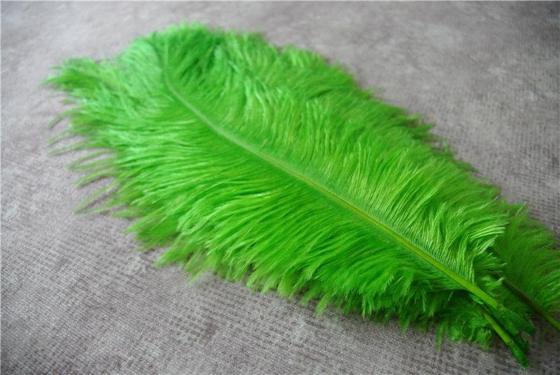 Venta al por mayor-ENVÍO GRATIS / color 12-14 pulgadas de plumas de avestruz verde lima para centros de torre Eiffel centros de mesa de boda centros de mesa