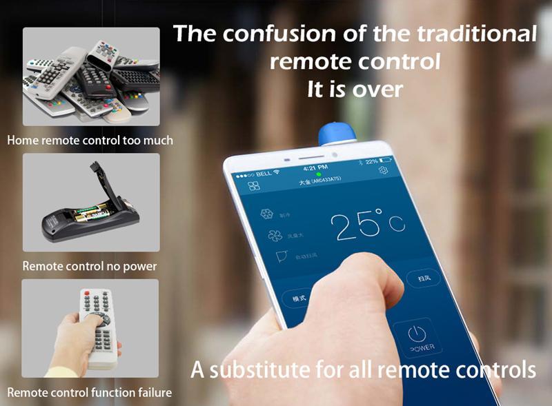 العالمي 3.5mm التحكم عن بعد مكيف الهواء التلفزيون دي في دي STB الأشعة تحت الحمراء للتحكم عن بعد للحصول على الروبوت أندرويد الشحن مجانا