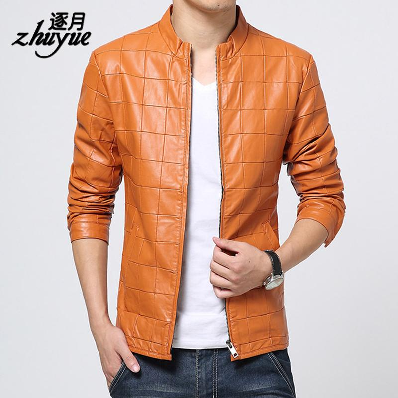 Online Cheap New Design Leather Coat Men 2015 Motorcycle Leather ...