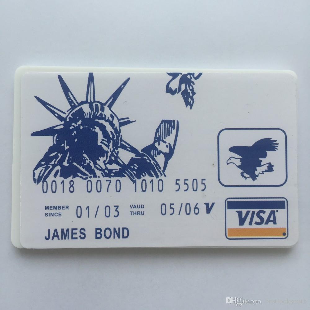 بطاقة الائتمان قفل اختيار مجموعة بطاقة فتح قفل اللقطات lockpick أدوات الأقفال قفل اختيار أدوات قفل