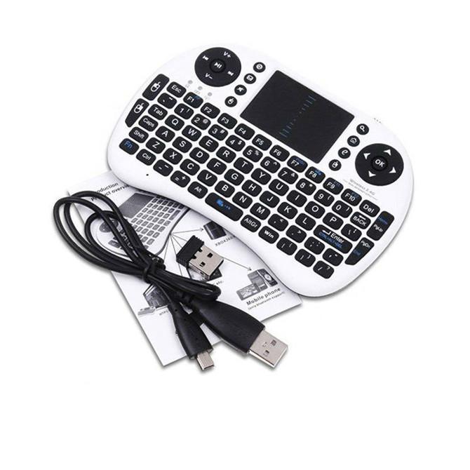 Rii i8 Remote Fly Air Mouse mini Keyboard Wireless 2.4G Touchpad Keypad For MXQ MXIII MX3 M8 CS918 M8S Bluetooth TV BOX Black