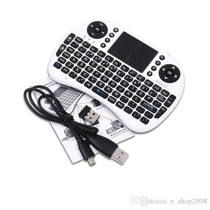 Rii i8 remoto fly air mouse mini teclado sem fio 2.4g touchpad teclado para mxii mxii mx8 m8 c918 m8s bluetooth tv box preto