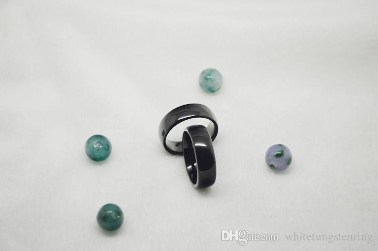 / 핫 판매 클래식 블랙 돔형 텅스텐 링 8mm 너비 컴포트 착용 코발트 무료