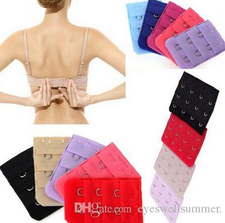 Femmes Bra Strap Extender 3 Rangées 2 Crochets Bra Extenders Fermoir Sangle Outils De Couture Intime Accessoires
