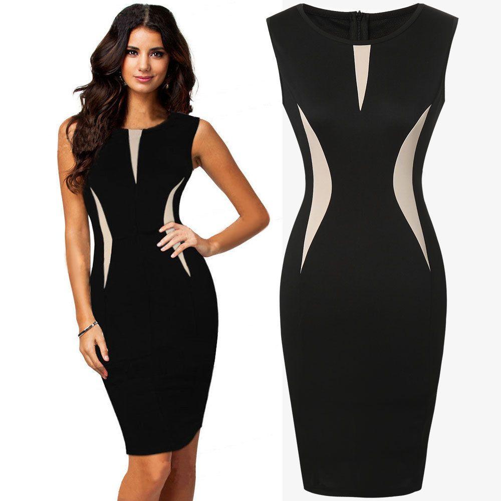 Vestido formal elegante del negocio del vestido del lápiz del partido de las señoras frescas hermosas