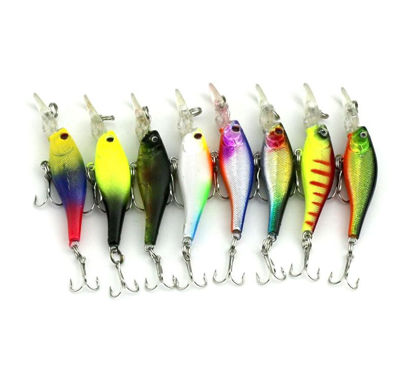 Colorful Minnow flicker Fly Fishing lure 6g 6.3cm Plastic Mini bass Baits Ray Laser Crank bait