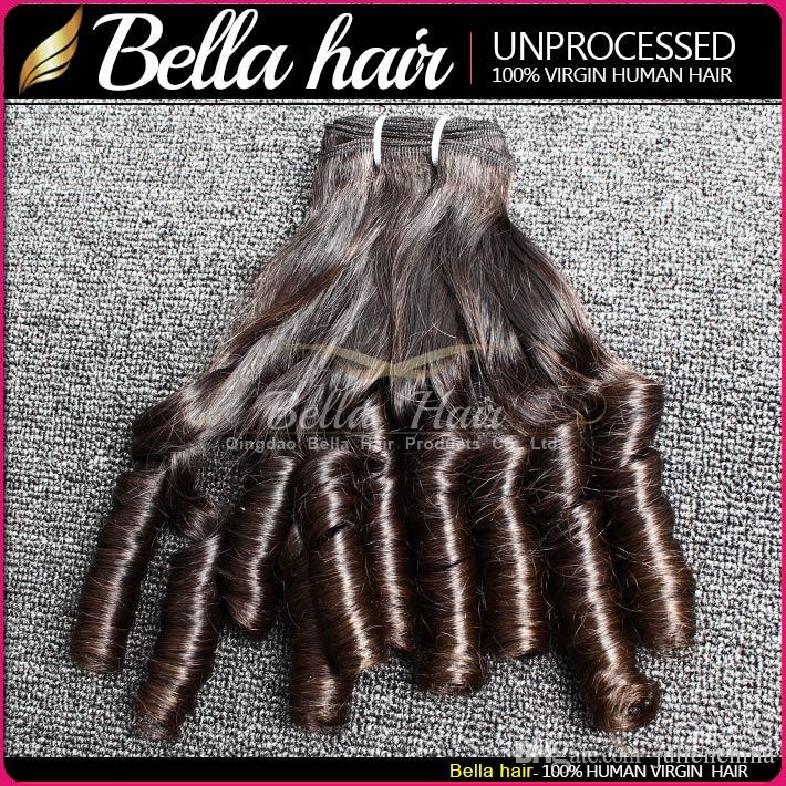 Bella Brazilian Funmi Cabelo Natural Cor Wavy Bouncy Spring Curl Extensões 3 Pçs / lote Fábrica