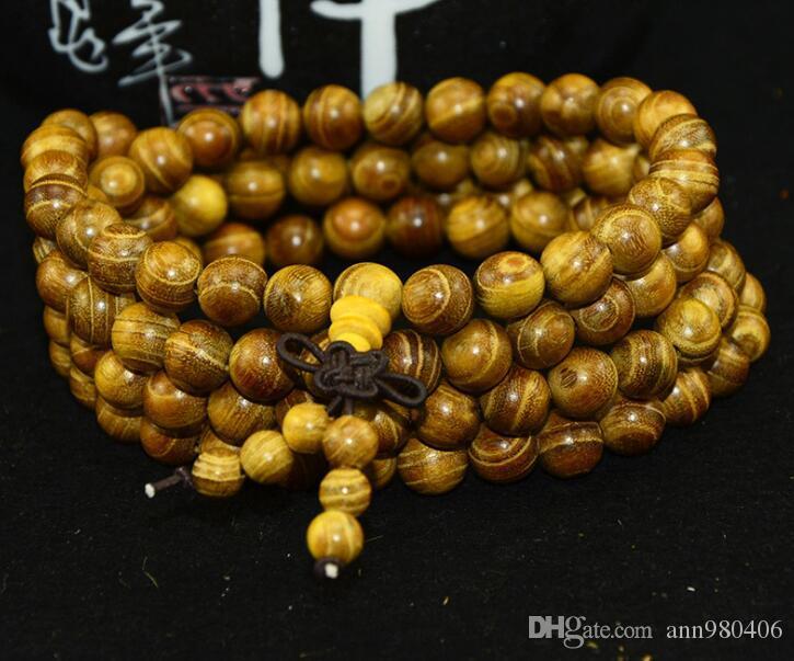 2017La nuova moda oro sandalo Buddha perla braccialetto 108 0.6 0.8 uomini e donne naturali linee morbide libera nave