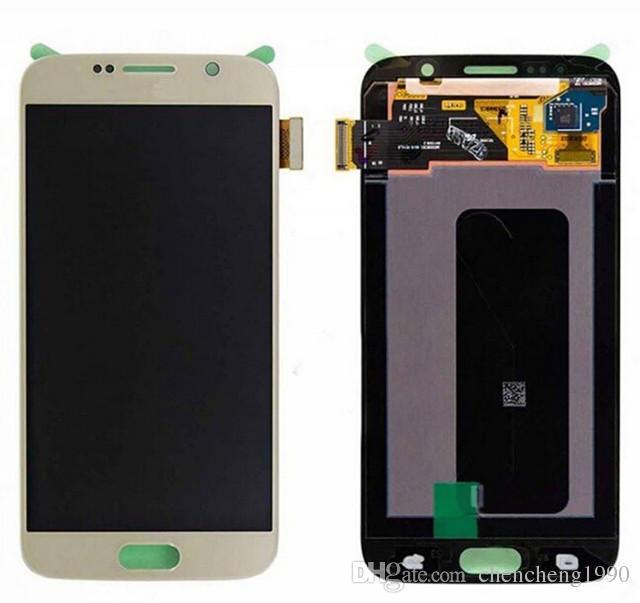 サムスンギャラクシーS6 G920A G920T G920V G920P G920F新しいLCDタッチスクリーンデジタイザの交換部品送料無料