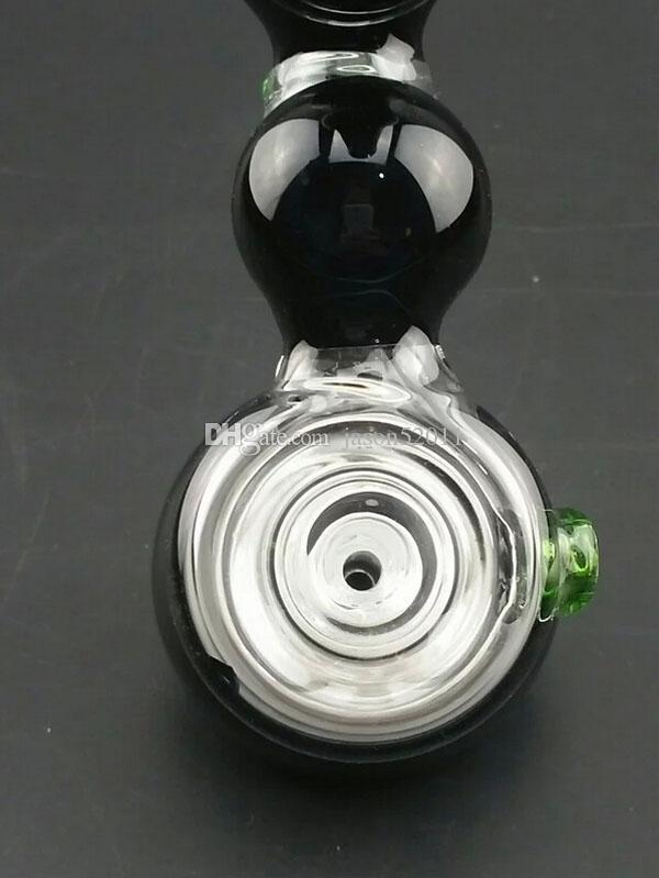 2016Hot design Vetro Bong Tubo di vetro nero Vetro gorgogliatore fumare pipe water Bong di vetro spedizione gratuita