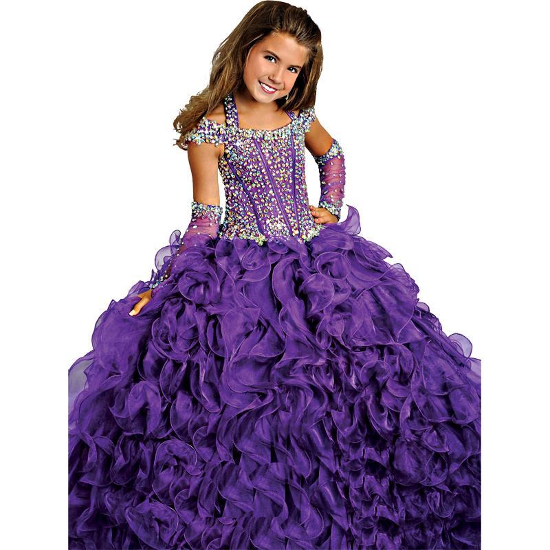 In Stock Purple Ritzee Girls Pageant Dresses For Teens Halter ...