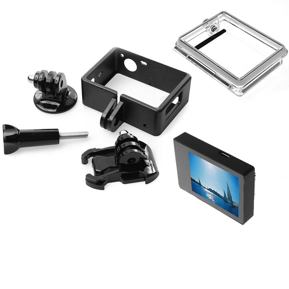 Gopro Hero 3 3+ 4 LCD Screen BacPac Display+Expanded Frame With Buckle Mount+Adapter+Backdoor Case Cover For Gopro Accessories (25)
