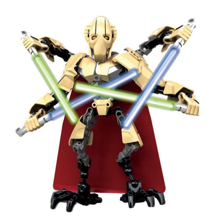 Star Wars Battle Droid Stormtrooper Luke Skywalker Building Blocks