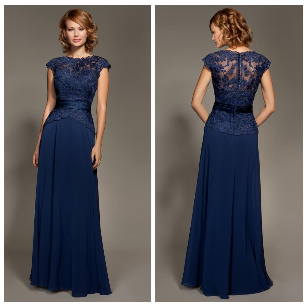Modest navy blue bridesmaid dress chiffon lace peplum sash bateau modest navy blue bridesmaid dress chiffon lace peplum sash bateau long party dress floor length wedding guest dress formal party dresses jr bridesmaid ombrellifo Image collections
