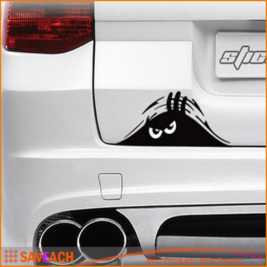 Online Cheap Cm Funny Peeking Monster Auto Car Walls Windows - Auto graphic stickers