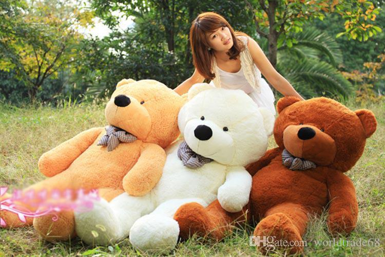 2019 hot sale giant teddy bear 72 inch 180 cm feet teddy bear stuffed light brown giant jumbo. Black Bedroom Furniture Sets. Home Design Ideas