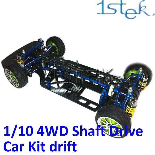 Alu Alloy Carbon Chassis 1 10 4wd Pre Assembled Rc Car Kit For
