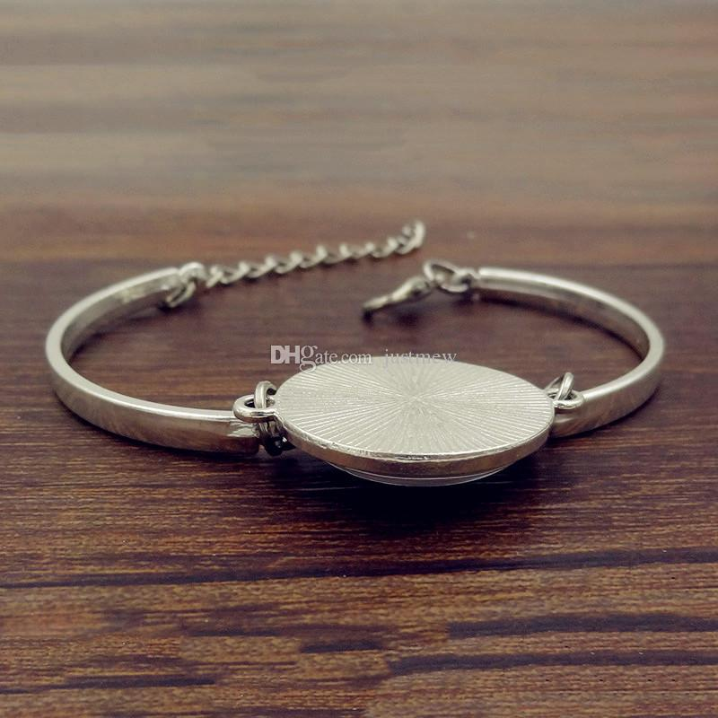 Творческий глобус карта браслеты браслеты Планета Земля карта мира искусство стеклянный купол серебряные ювелирные изделия браслет для женщин / дети могут выбрать