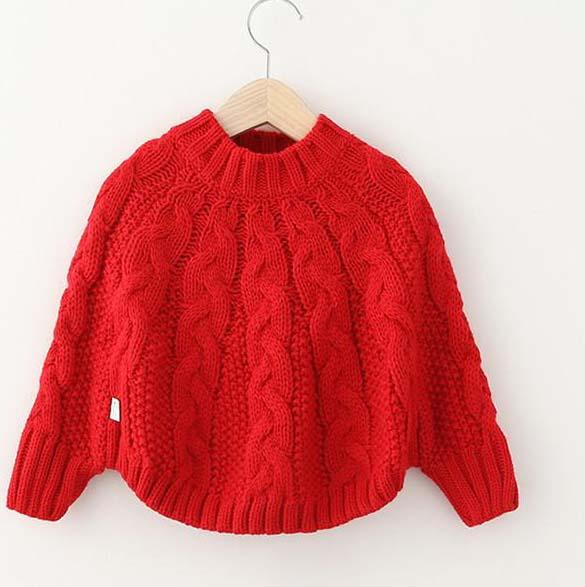 New Arriving 2015 Kids Girls Knit Poncho Baby Girl Fall Crochet Capes Girl Ju...