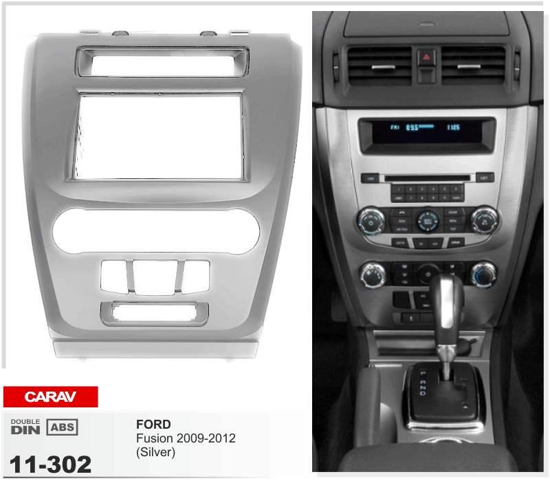 CARAV11-302 Car Radio Facia for FORD Fusion 2009-2012 (Silver) Fascia Dash CD Trim Installation Kit