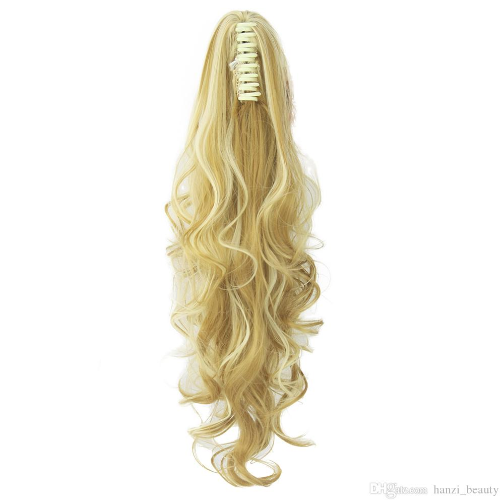 Long Curly Claw Ponytail Clip In Hair Extensions Hairpiece Pony Tail