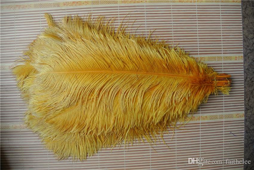 / 16-18inch plume d'or plume d'autruche pour l'événement décoration pièce maîtresse de mariage partie offre un décor de fête