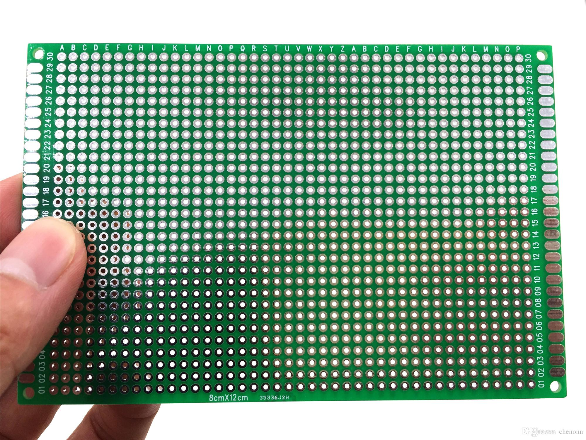 8x12 Cm Double Sided Universal Pcb Diy Breadboards Random Or Singlesided Copper Clad Fr4 Epoxy Sheet For Printed Circuit Board Shipments Online With 40 Piece On Chenonns Store