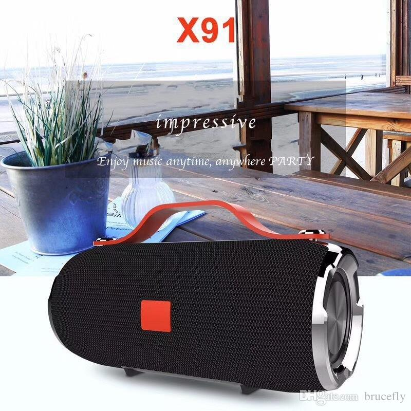 X91 Waterproof Wireless Bluetooth Speakers Portables Subwoofer Speakers Mini Outdoor Bluetooth Speaker Hi-Fi Boxes Support TF card FM Radio